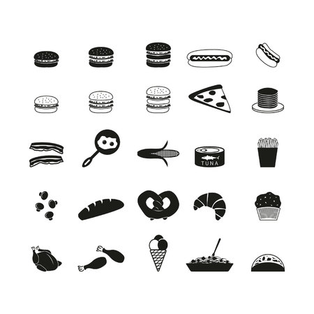 chiken: Food icons set