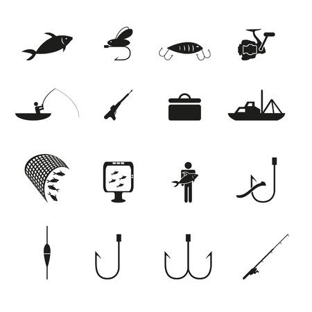 Vissen pictogrammen instellen Stockfoto - 24703453