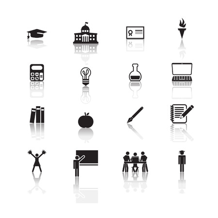 physical geography: Higher education icons