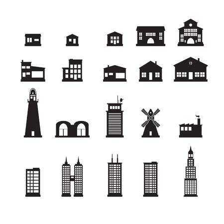 Iconos de construcción establecido Foto de archivo - 24703455