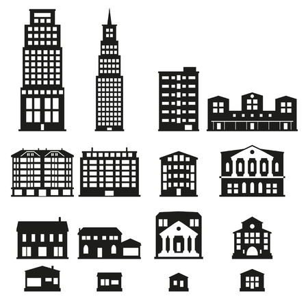 Buildings - buildings icon set Imagens - 24703460