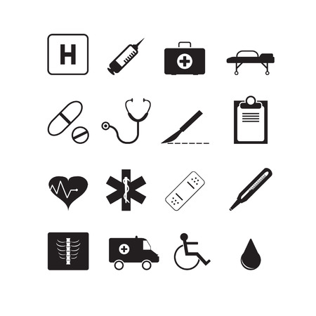 x ray image: Medicine icons set Illustration