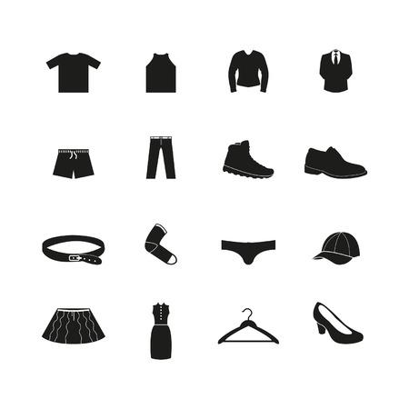 Clothes icon set Zdjęcie Seryjne - 24703462