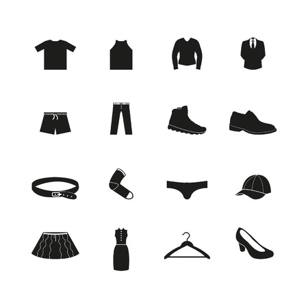Clothes icon set Ilustracja