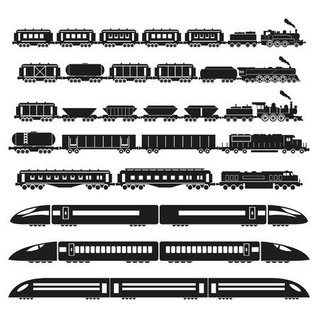 train icone: Ensemble de trains