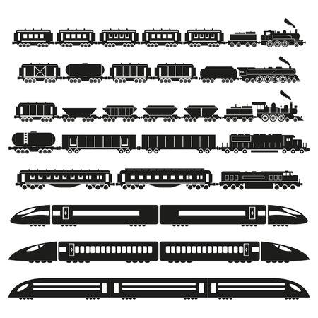 Set of trains  Vector