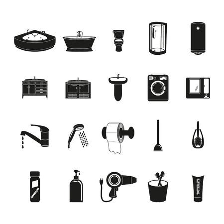 Badezimmer Icons Standard-Bild - 24703465