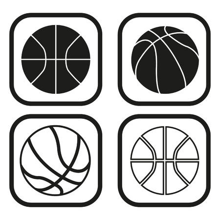 Basketball ball icon - four variations Vector