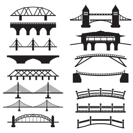 Bridge icons set