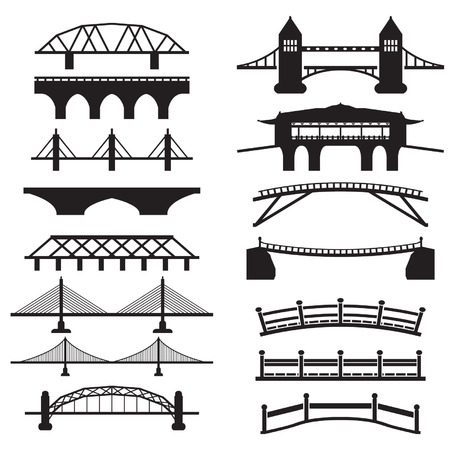 Iconos set bridge Foto de archivo - 29428018