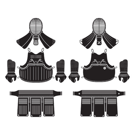 Kendo Rüstung oder Rüstung Standard-Bild - 29428021