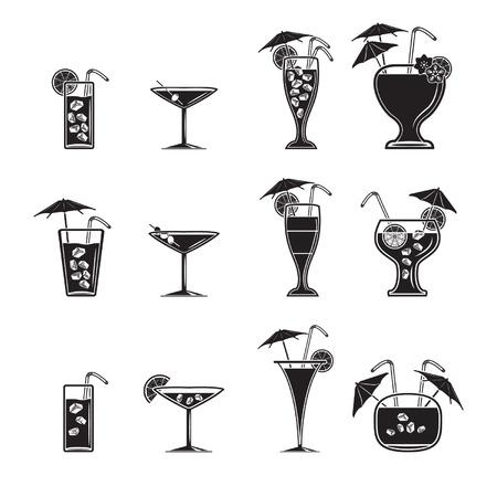 mojito: Cocktail icons set  Illustration