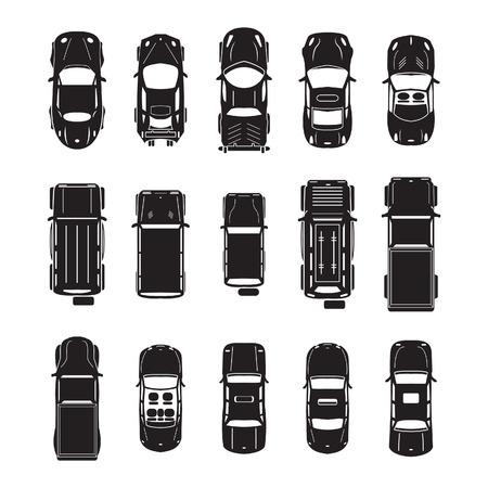 상단: 자동차 평면도 아이콘