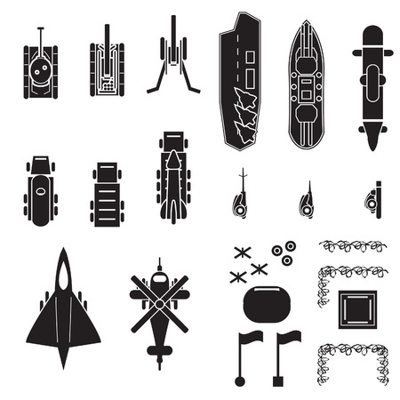 howitzer: Military icons set