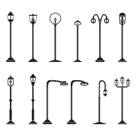 Straßenbeleuchtung und Lampen gesetzt Standard-Bild - 30016079
