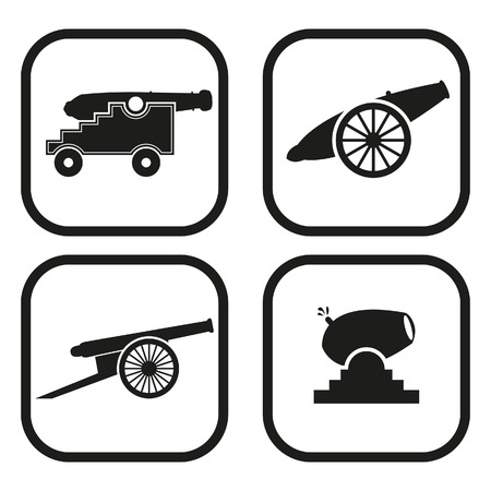 armament: Cannon icon - four variations