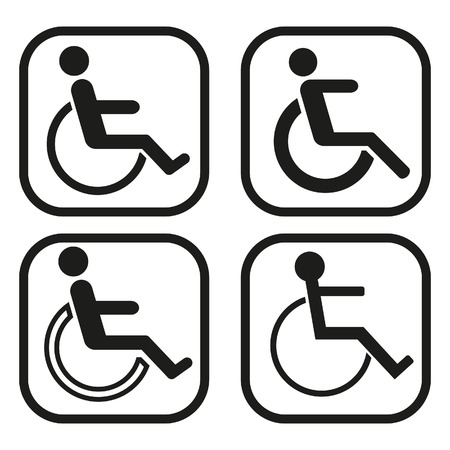 crippled: Disabled icon - four variations