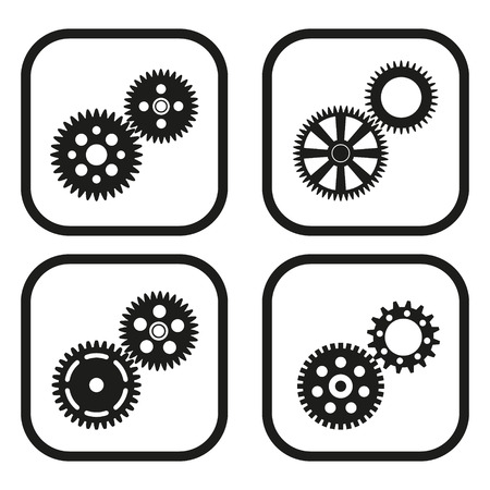 pinion: Gears icon - four variations