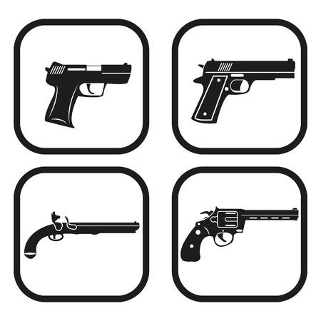 Gun icon - four variations Illusztráció