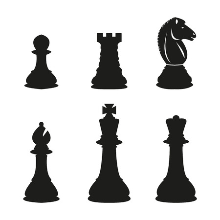 chess set: Chess pieces Illustration