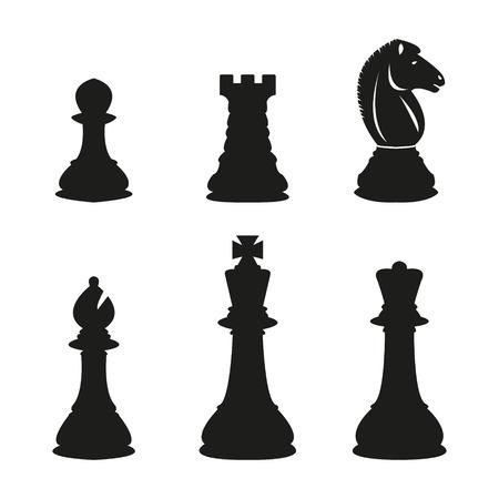 Chess pieces Stock Illustratie