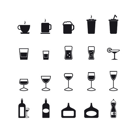 alcohol series: Drink icons set