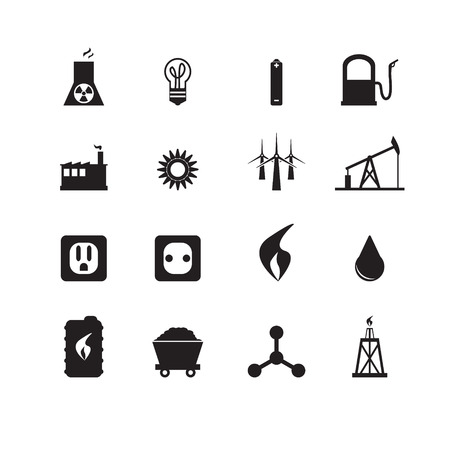 oil well: Energy icons