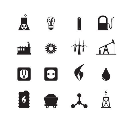 iconos energ�a: Los iconos de la energ�a