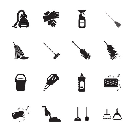 hoover: Cleaning icons set