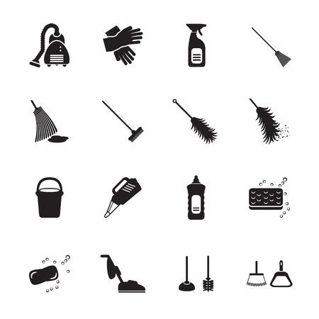 Reinigung Icons Set Standard-Bild - 32571140