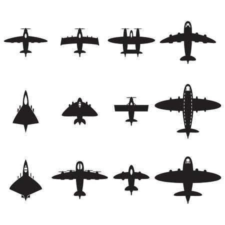 interceptor: Vector airplanes set