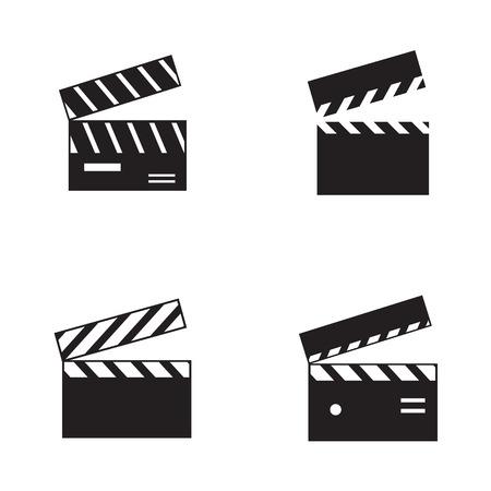 Movie clapboard icons