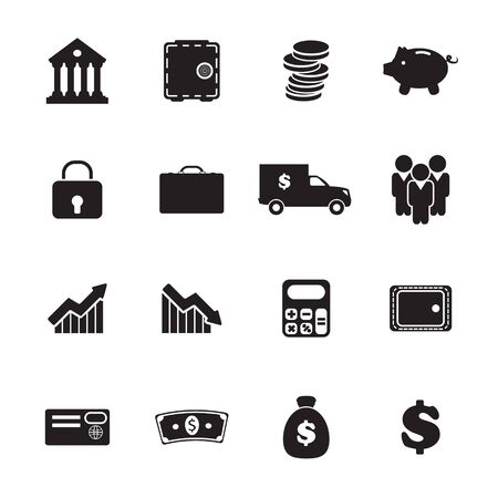 bussiness card: Banking icons set