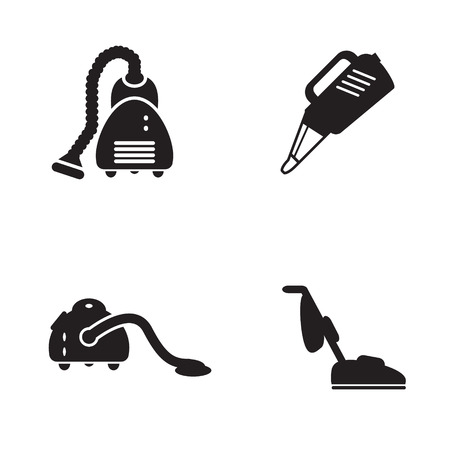 Vacuum cleaner icon in four variations