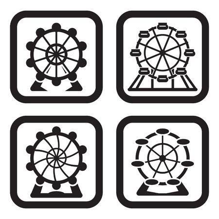 Ferris wheel in four variations