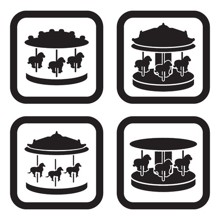 Carousel icon in four variations Иллюстрация