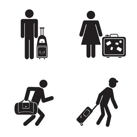人々 旅行アイコン イラスト