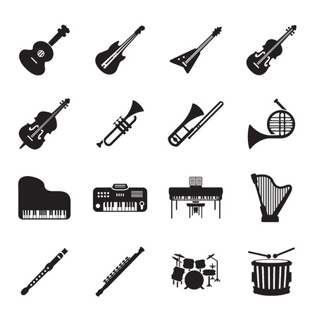 fife: Musical instruments icon set