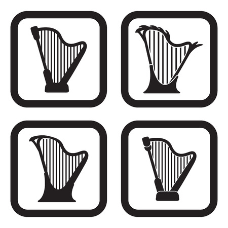 Harp icon in four variations