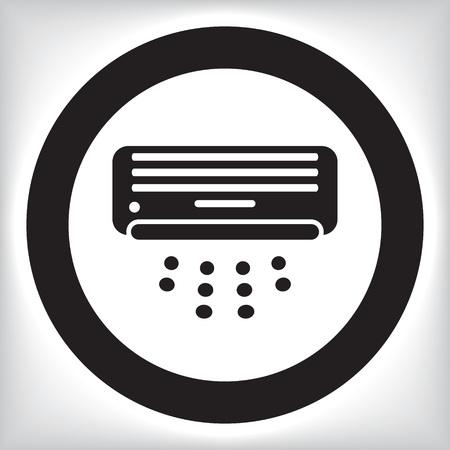 air conditioner: Air conditioner icon Illustration