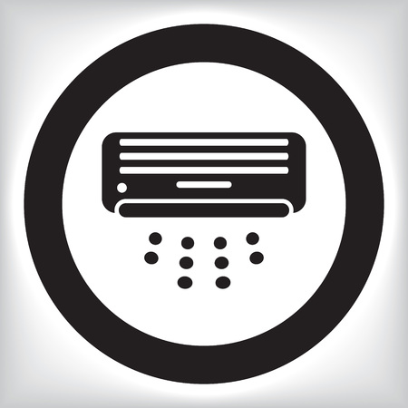 Air conditioner icon Vectores