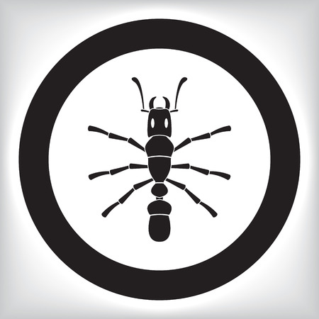 wings vector: Ant icon Illustration