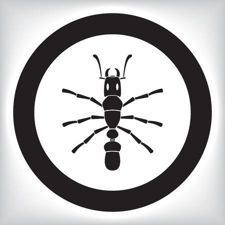 etymology: Ant icon Illustration
