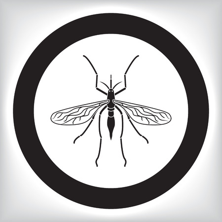 insect repellent: Mosquito icon Illustration