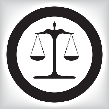 Scales of justice icon 向量圖像