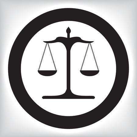 Waage der Gerechtigkeit Symbol Standard-Bild - 43531809