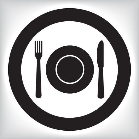 Icono de restaurante Foto de archivo - 43532046