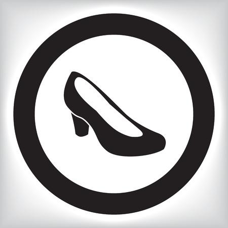 sexy black woman: Female shoe icon Illustration