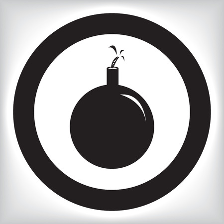 detonator: Bomb icon Illustration