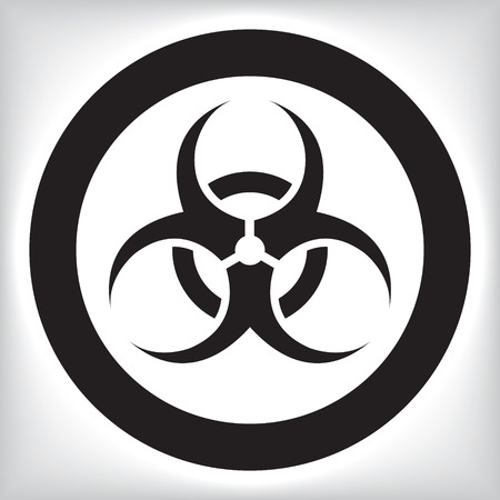 lethal: Biohazard icon Illustration
